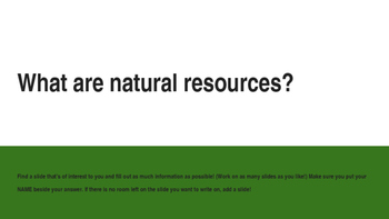 All about Natural Resources