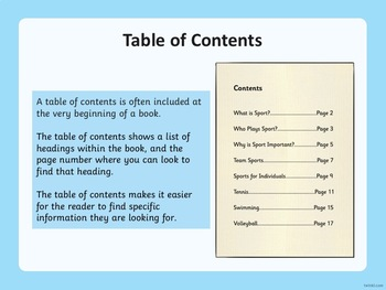 All About Non-Fiction Text Features PowerPoint