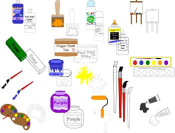 All about Painting and More Clipart