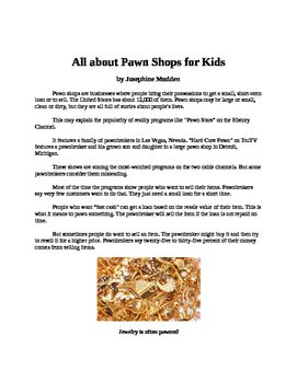 All about Pawn Shops for Kids