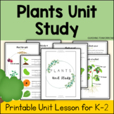 All about Plants Homeschool Unit - Life Cycle, Parts of Pl