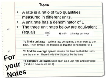 All about Rates!