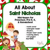 All about Saint Nicholas Mini-Lesson for Preschool, PreK, K, and Homeschool