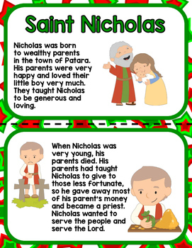 All about Saint Nicholas Mini-Lesson for Preschool, PreK, K, and Homeschool