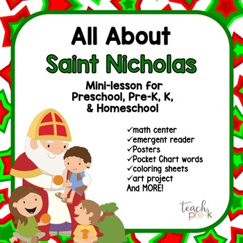 All about Saint Nicholas Mini-Lesson for Preschool, PreK,