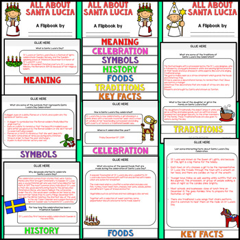 Santa Lucia Research Flipbook (All About Saint Lucia's Facts & Activities)