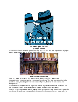 All about Spies for Kids
