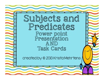 All about Subjects and Predicates Powerpoint Presentation