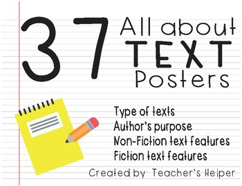 All about Text Posters