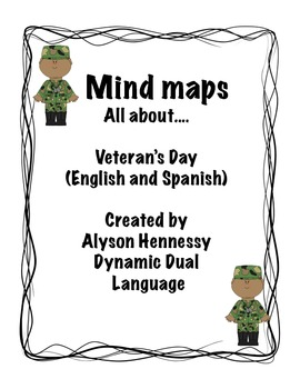 All about Veteran's Day! Mind maps in English and Spanish!