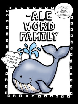 All about -ale word family words! - No Prep! Word Work!