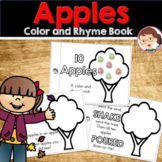 10 Red Apples Color and Rhyme Book Activities for Preschool and Pre-K (Prek)