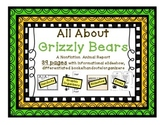 All about Grizzly bears writing- nonfiction writing for lower elementary