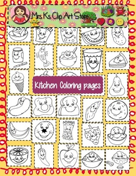 All about food coloring pages