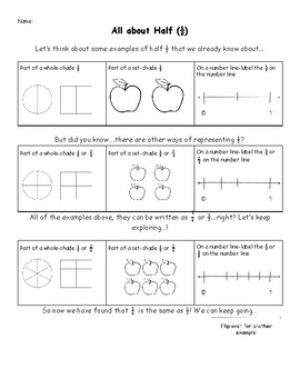 All about half-Equivalent fractions of half