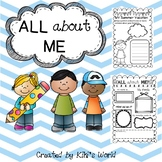 All about me (beginning of the year printables)