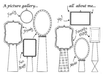 All about me! A picture gallery for children to draw Visual Arts & Class Display