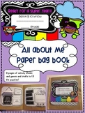 All about me, Back To School paper bag book!!!