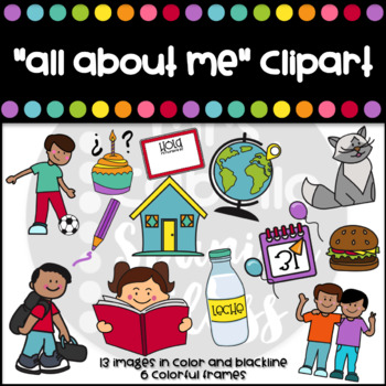 All about me Clipart Set