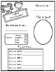 All about me - First Grade {Free}