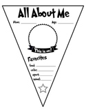 All about me - First day of school/ Student of the week - Pennant