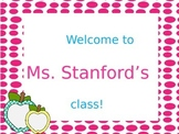 All about me Powerpoint; first day of school
