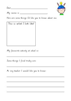 All about me activity!