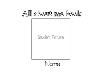All about me adapted visual book