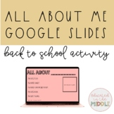 All about me and math about me google slides activity