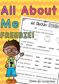 All about me back to school freebie