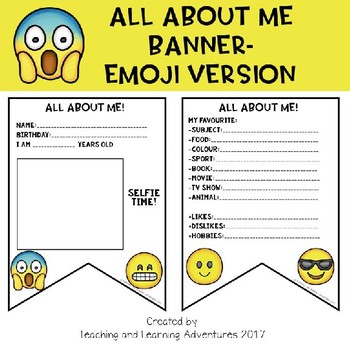 All about me banner-Emoji version