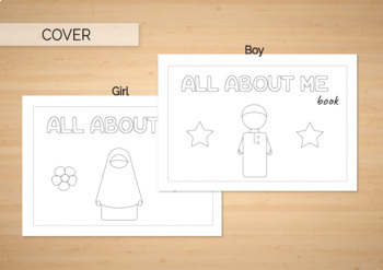 All about me book Muslim kids Back to School