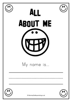 All about me booklet for preschool, prek