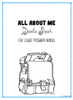 All about me doodle sheet