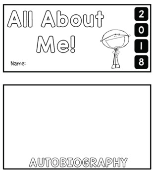 #AUSBTS18 All about me flipbook! - 2 types included {Boy and girl version}