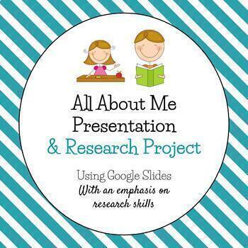 All About Me Presentation and Research Project - Fully Editable!