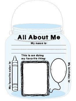All about me mason jars