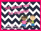 First day in Spanish class - All about me book