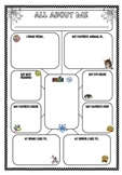 All about me posters for students