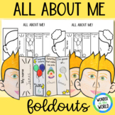 All about me self portrait style foldout