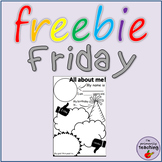 All about me worksheet   A5   Back to School activity  