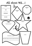 All about me worksheet or mobile craft