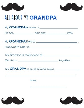All about my... Dad, Grandpa, Uncle (bundle of 3)
