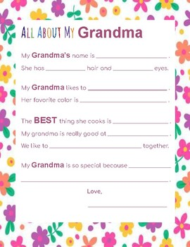All about my... Mom, Grandma, Aunt (bundle of 3)