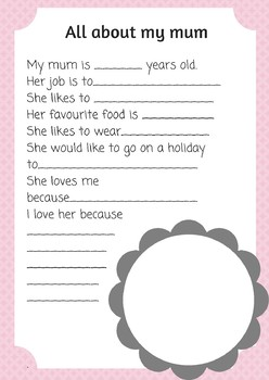 All about my mum / mom