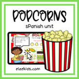 All about popcorn | Spanish Unit | Boom Cards