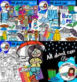 All about rain clip art