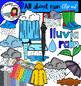 All about rain clip art- big set of 62 items!