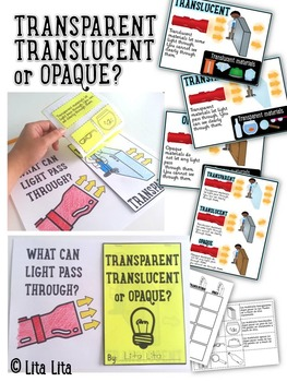 Transparent, translucent or opaque fold and learn