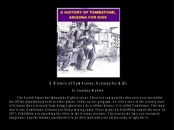 History of Tombstone Powerpoint